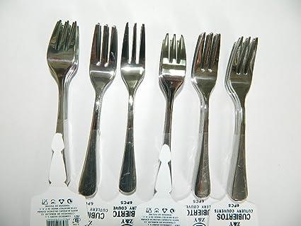 12 x Mini tenedores acero inoxidable Tenedor cóctel Apéros ...
