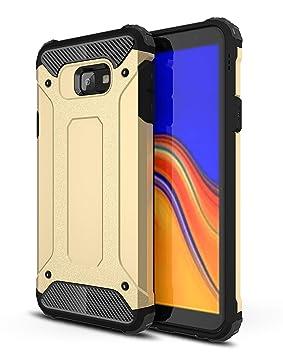 AOBOK Funda Samsung Galaxy J4 Plus, Oro Moda Armadura Híbrida Carcasa Shock Absorción Proteccion, Anti-Scratch, Funda Case para Samsung Galaxy J4 Plus ...