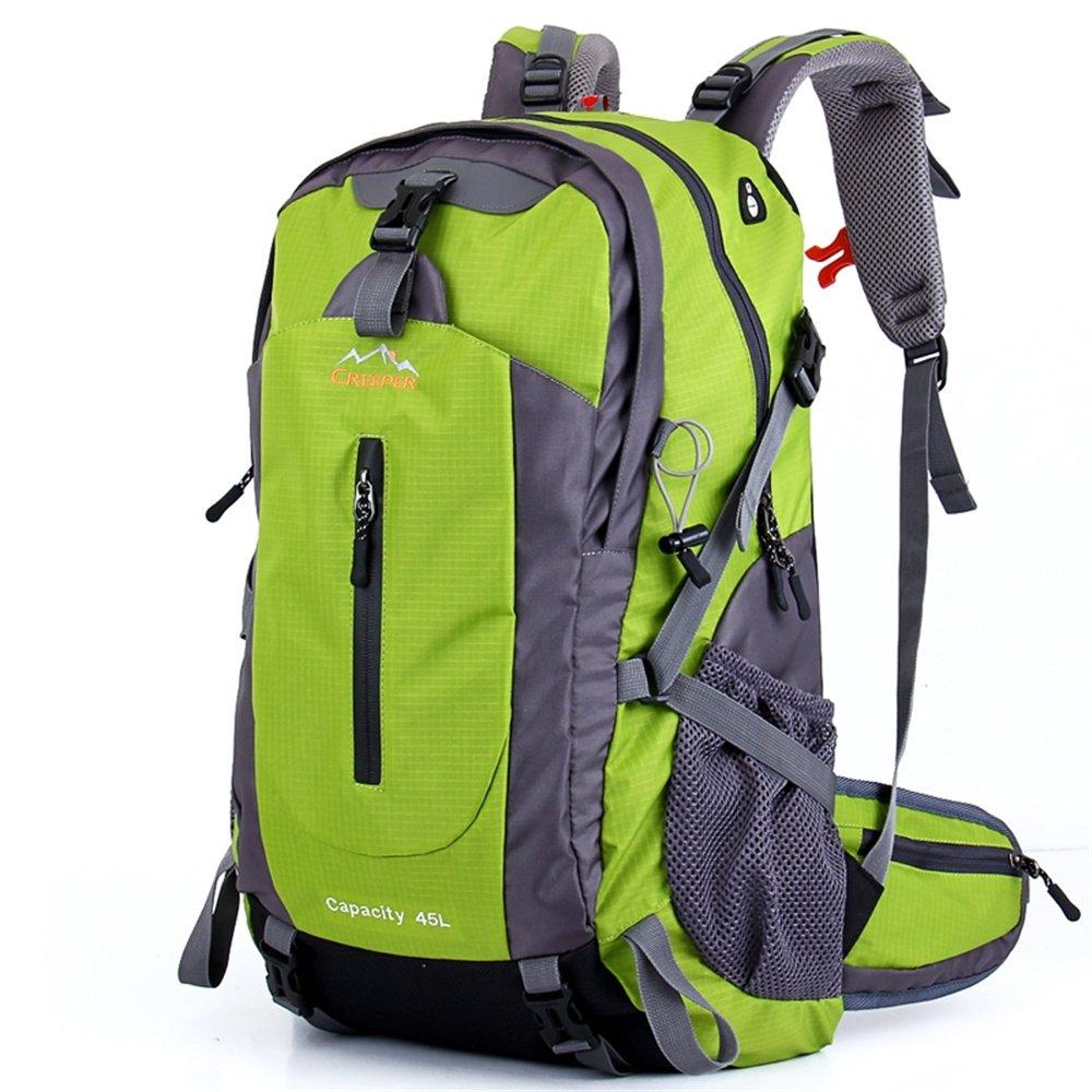 Creeper アウトドア レジャー 45L バックパック キャンプ ハイキング ハイキング バックパック レインカバーバックパック付き B0763RV39G グリーン
