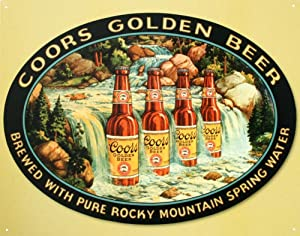 Coors Golden Beer Brewed With Pure Rocky Mountain Spring Water