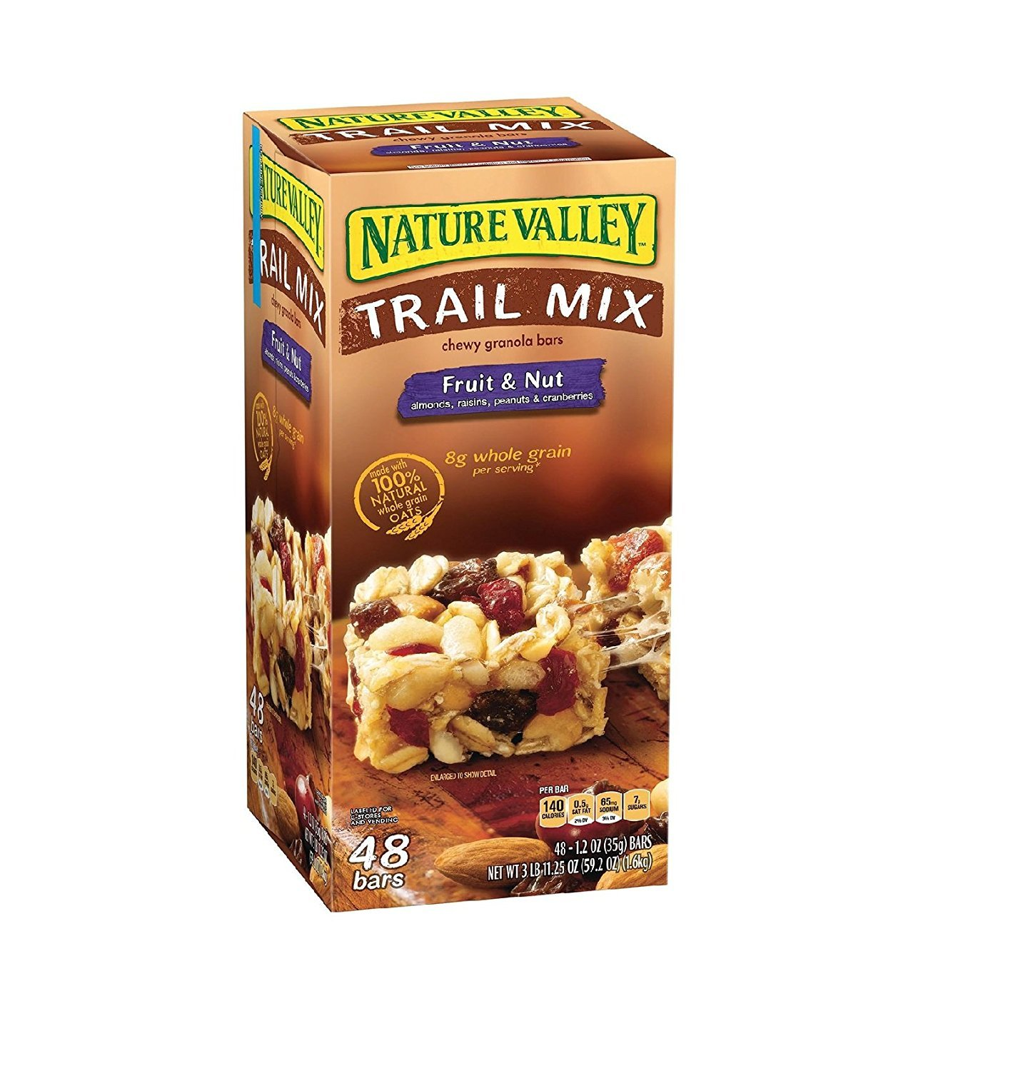 Nature Valley Fruit & Nut Chewy Trail Mix Granola Bars (48 ct.) (2 boxes)