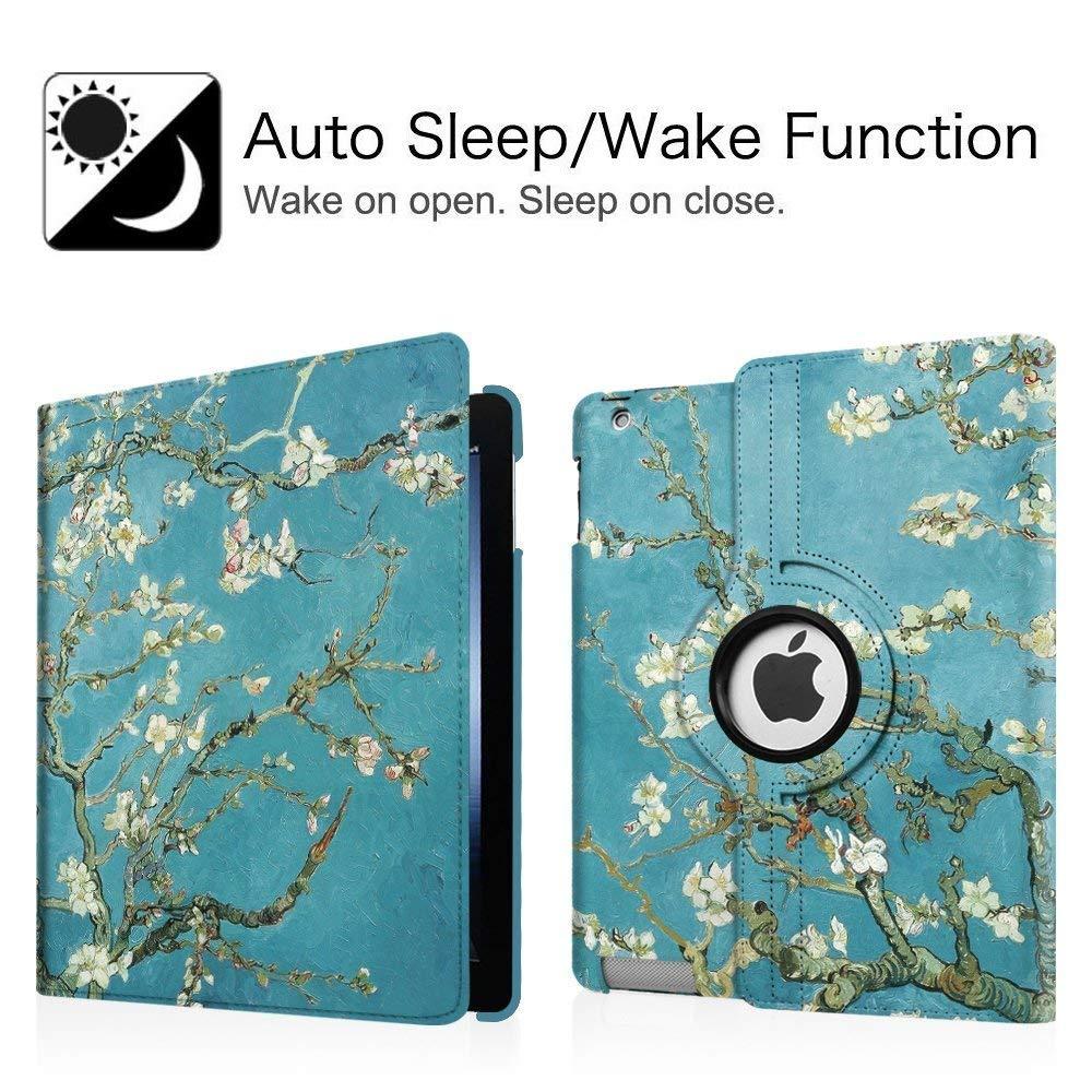 360 Degree Rotating Stand Case Cover with Auto Sleep//Wake Feature for iPad Mini 1//iPad Mini 2//iPad Mini 3 iPad Mini 1//2//3 Case