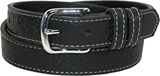 product image for Boston Leather Men's Big & Tall Bison Leather Belt with Contrast Stitch
