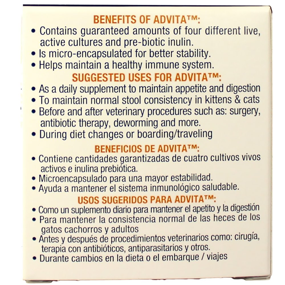 Advita Probiotic Nutritional Supplement for Cats (30 Packets)