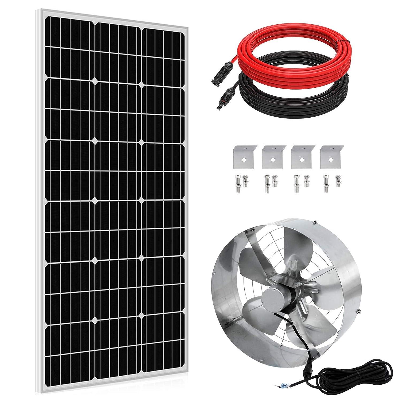 ECO-WORTHY 65W Solar Powered Fan for Barn