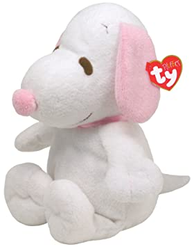 Ty Pluffies - Snoopy de peluche (28 cm), color rosa