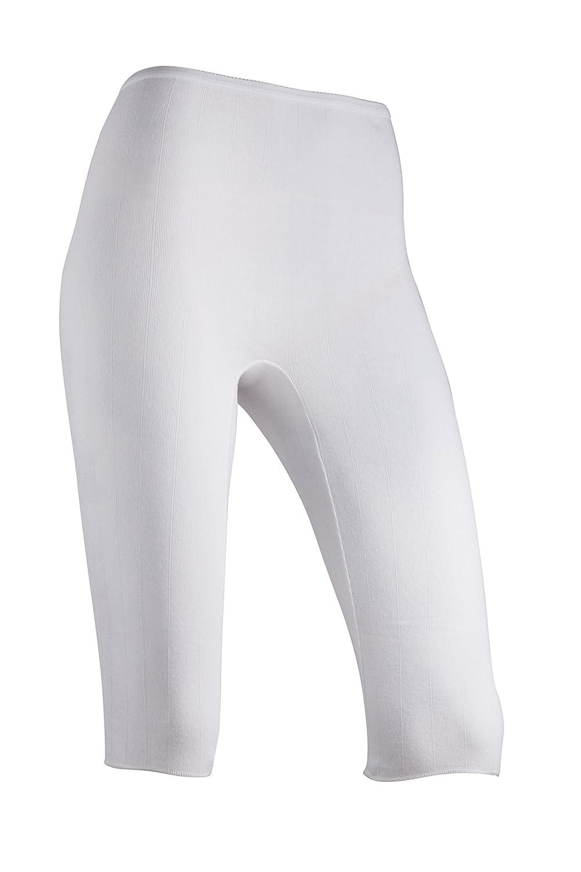 Indera Women's Below Knee Pant 100-Percentage Cotton 1x1 Rib (3-Pack) 340