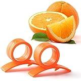 Mophorn Orange Opener Peeler Pack of 2 Slicer Cutter Plastic Lemon Citrus Fruit Skin Remover (Pack of 2)