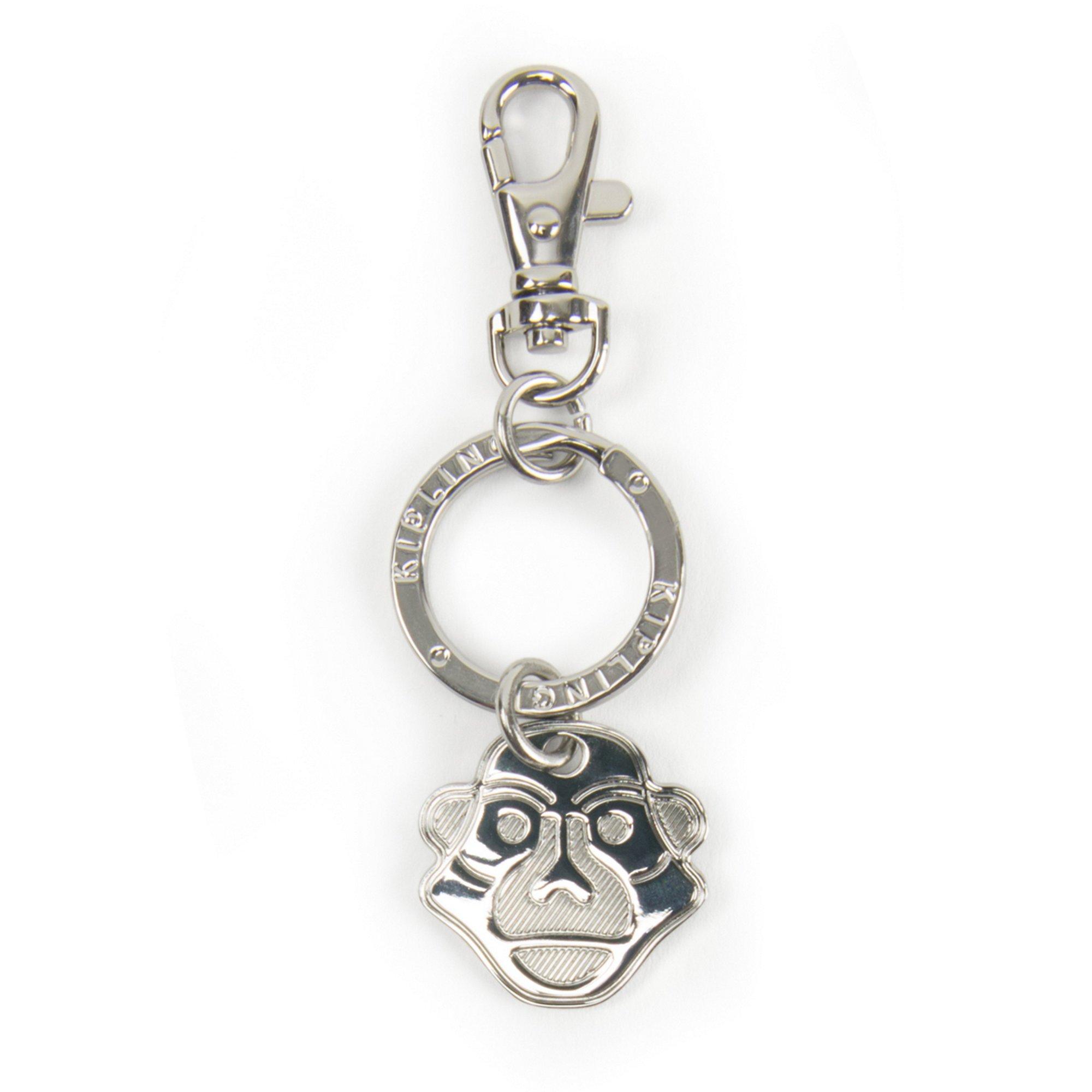 Kipling Women's Monkey Face Keychain One Size Silver