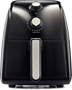 BELLA Electric Hot Air Fryer, Healthy No-Oil Deep Frying, Cooking, Baking and Roasting, Easy Clean Up, Removable Dishwasher Safe Basket, 2.6 QT, Black