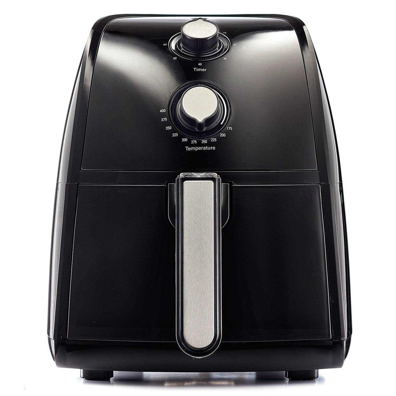BELLA TXG-DS14-14538 Electric Hot Air Fryer with Removable Dishwasher Safe Basket, 2.5 L, Black