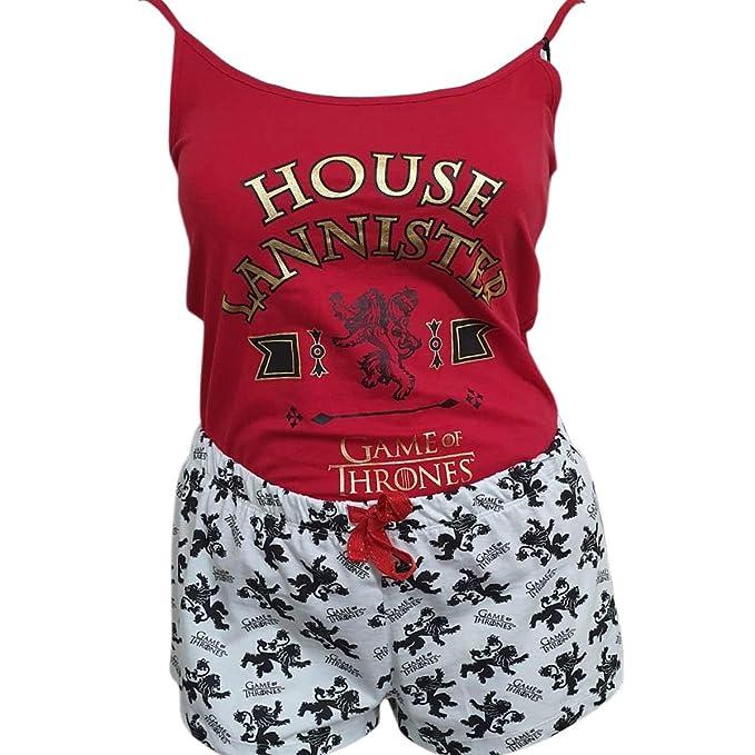 Game Of Thrones 3 Houses Lannister Stark Targaryen House Ladies Girls Cotton Cami Vest Shorts Womens Pajama Pyjama Pj Set Sizes Xxs Xl
