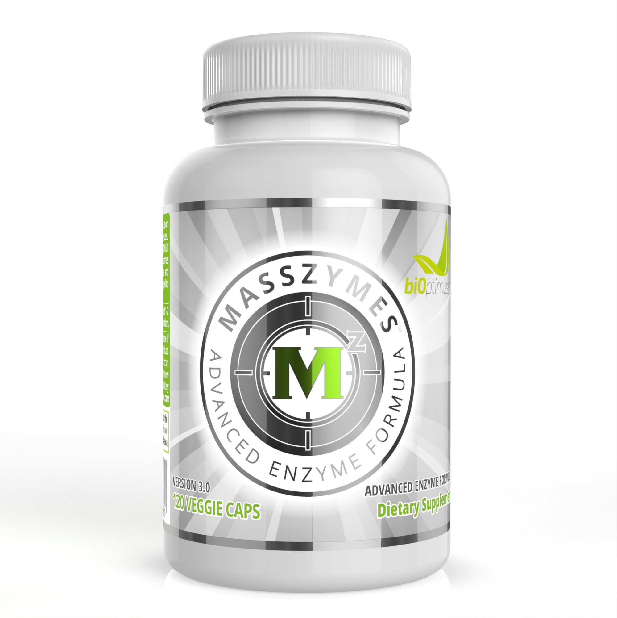 Premium Digestive Enzymes for Women and Men - Now with AstraZymeTM - Super Digestive Enzyme Supplements - MassZymes by BiOptimizers (120 Capsules)