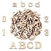 Satinior 124 Piezas Letra Mayúscula de Madera Totalmente