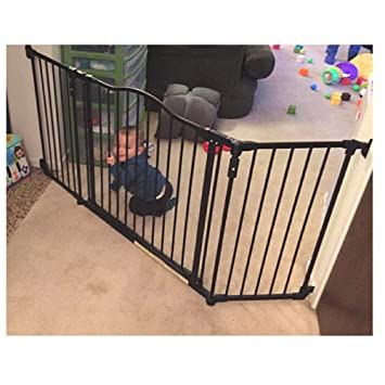 Amazon Com Wide Baby Gate With Easy Open Door Safety Wall Mount