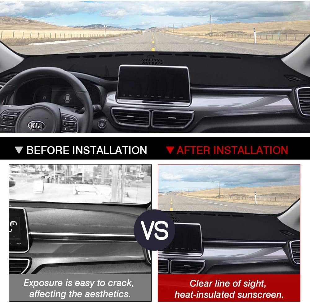 Cartist Dashboard Mat Cover for 2017-2020 2021 Kia Sportage Dash Cover Nonslip Dashboard Mat Protector Sunshade No Glare