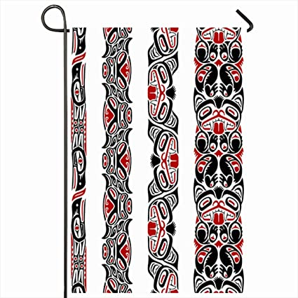 Amazon Com Ahawoso Outdoor Garden Flags 12 X18 Inch Inuit Red