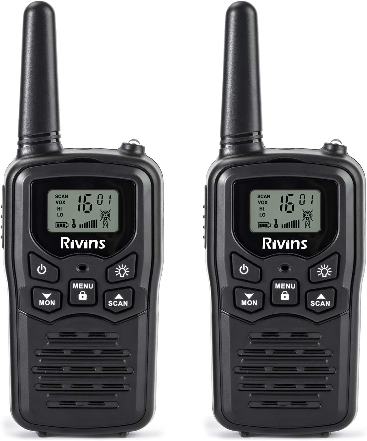 Rivins RV-7 Walkie Talkies 2 Pack 2-Way Radios