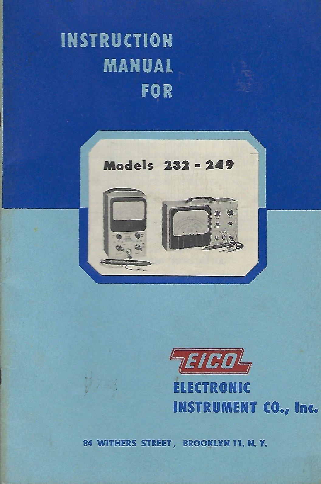 Test, Measurement & Inspection EICO 232 249 Peak-to-peak VTVM ...
