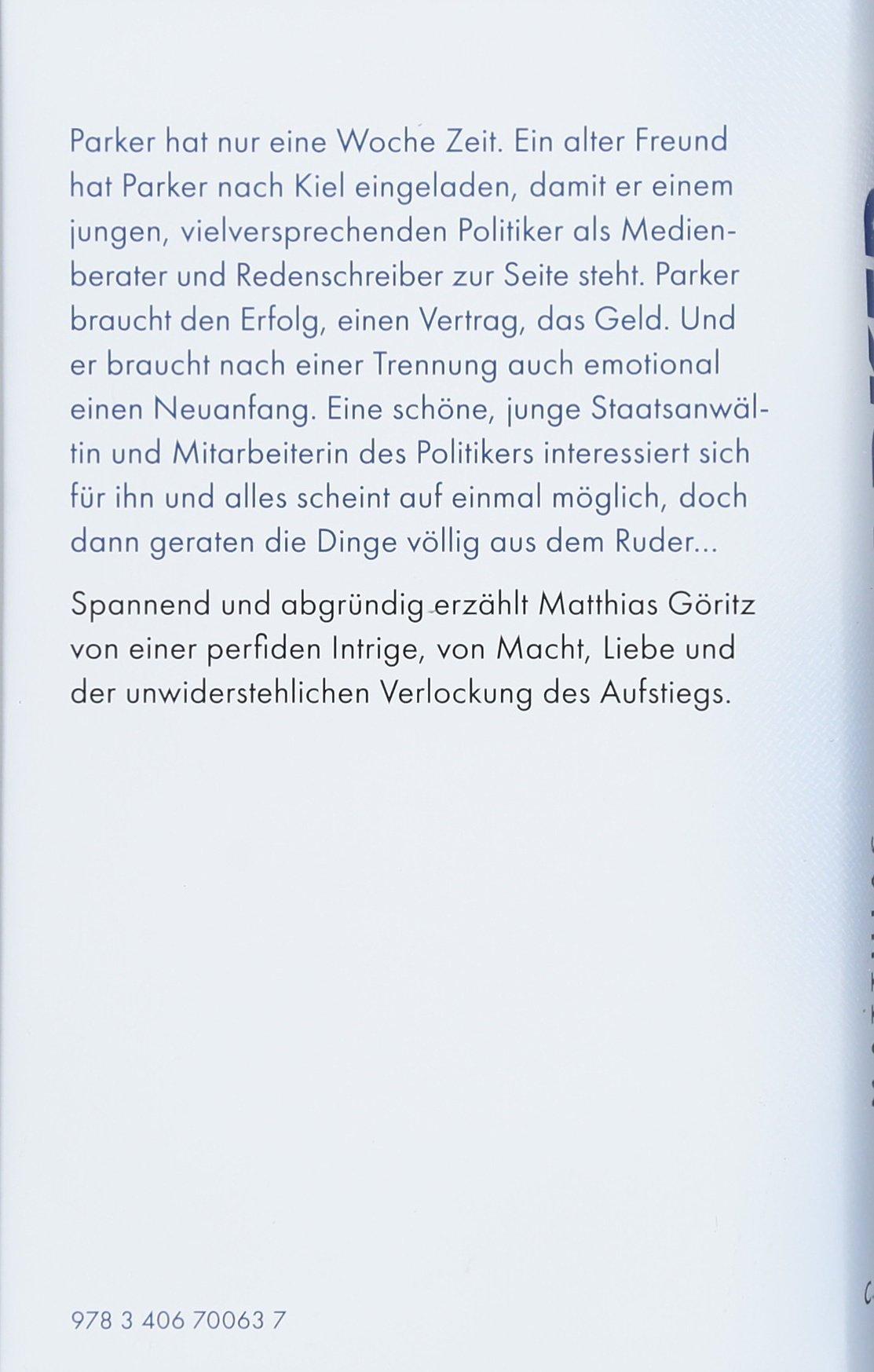 Parker: Roman: Amazon.de: Matthias Göritz: Bücher