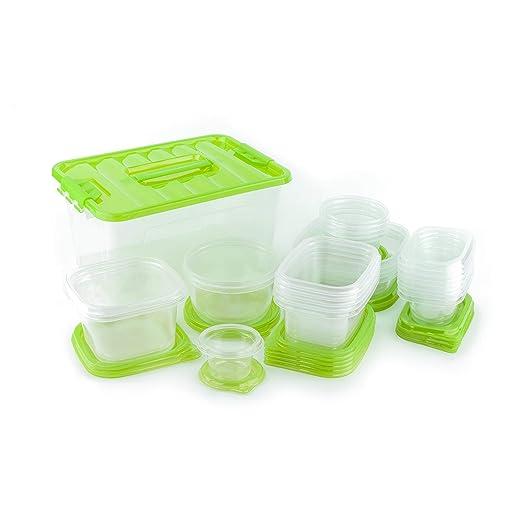 Amazon.com: 54 pieza de plástico recipiente con tapa para ...