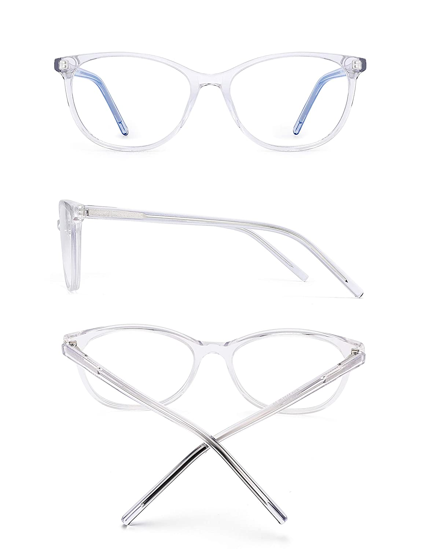 JIM HALO Bloquea Luz Azul Gafas de Computadora Bisagras de Resorte V/ídeo Juego Anteojos Reduce Fatiga Ocular Negro