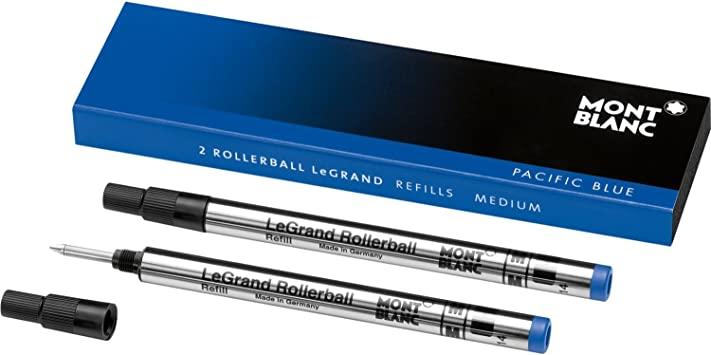 Medium Point 2 Blue Mont Blanc Rollerball Refills