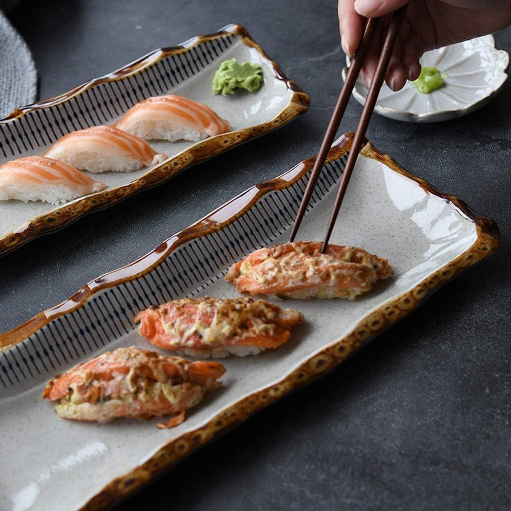 japanischer Sushi-Sashimi Teller japanische Ramen-Sch/üssel Mode Size : 27.7cm Sushi Teller GYJ Japanische Keramik-Platte