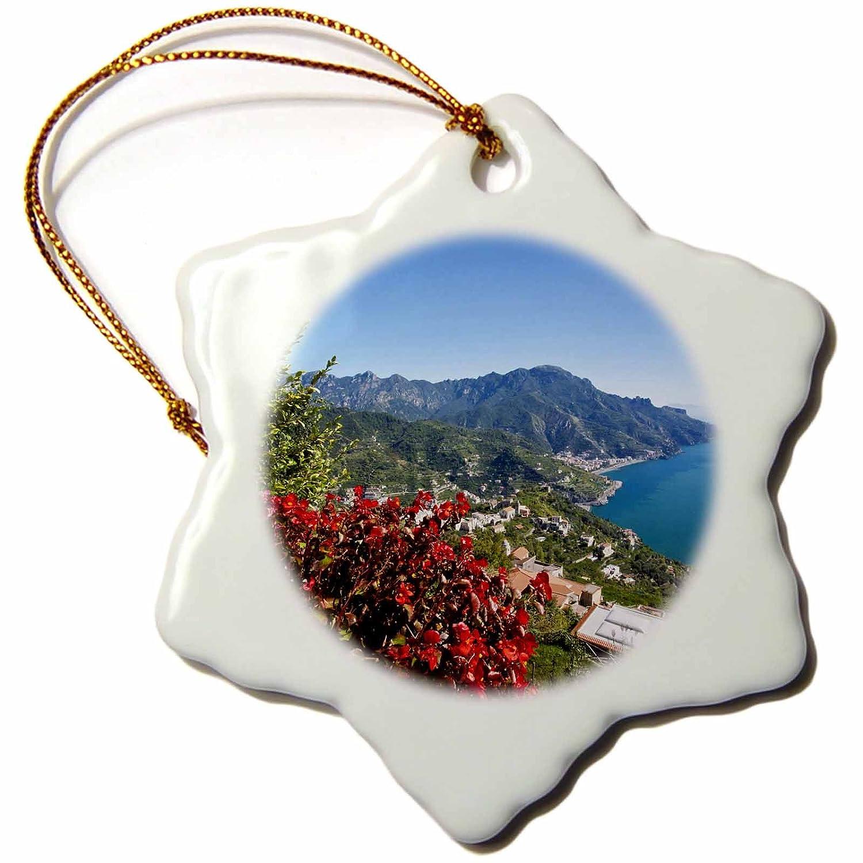 Ravello Amalfi Coast 3-Inch Villa Rufolo-Eu16 Teg0518-Terry Eggers-Snowflake Ornament Porcelain 3dRose orn/_138327/_1 Italy