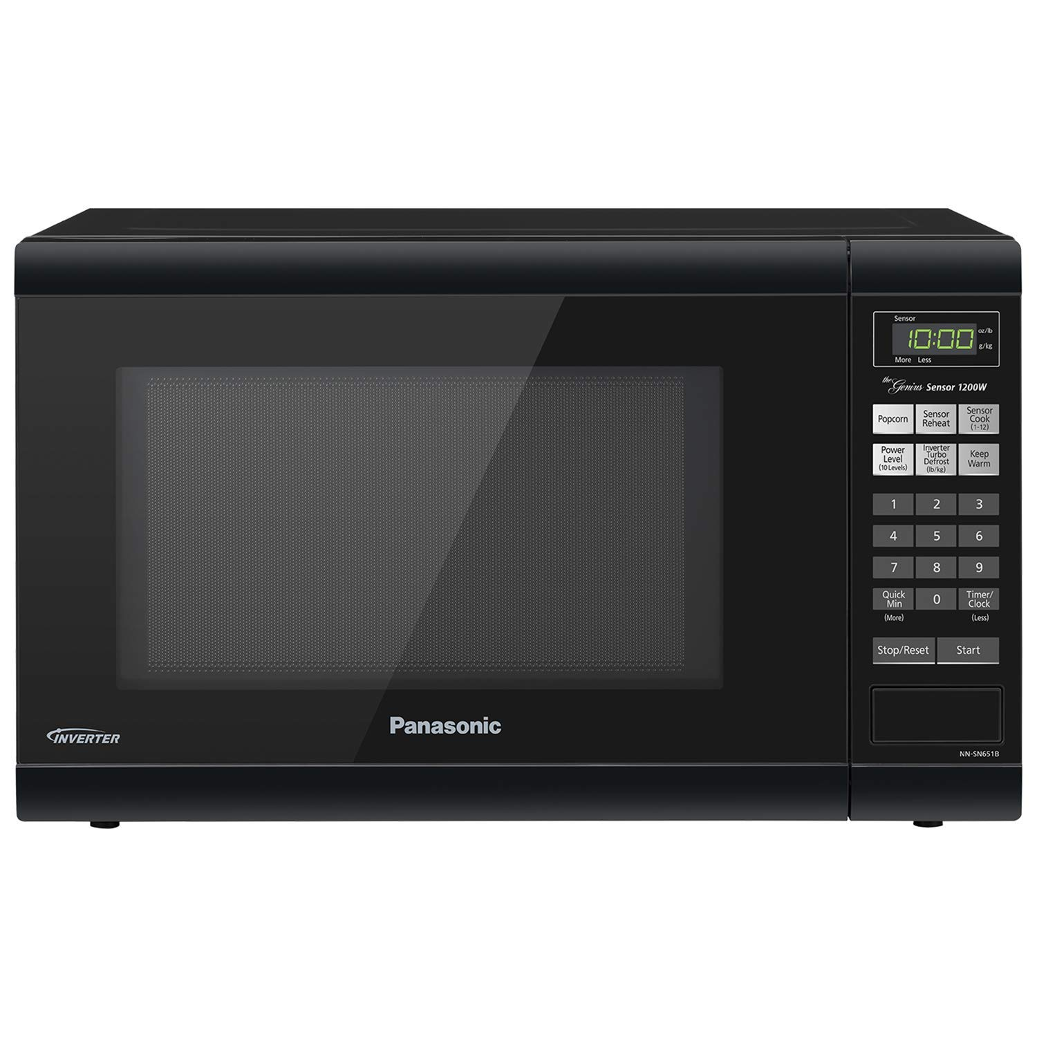 Panasonic Microwave Oven NN-SN651B Black Countertop with Inverter Technology and Genius Sensor, 1.2 Cu. Ft, 1200W (Certified Refurbished)