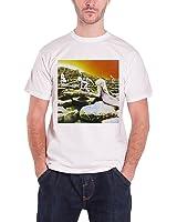 Led Zeppelin Houses Of The Holy Album Cover Official Mens New White T Shirt