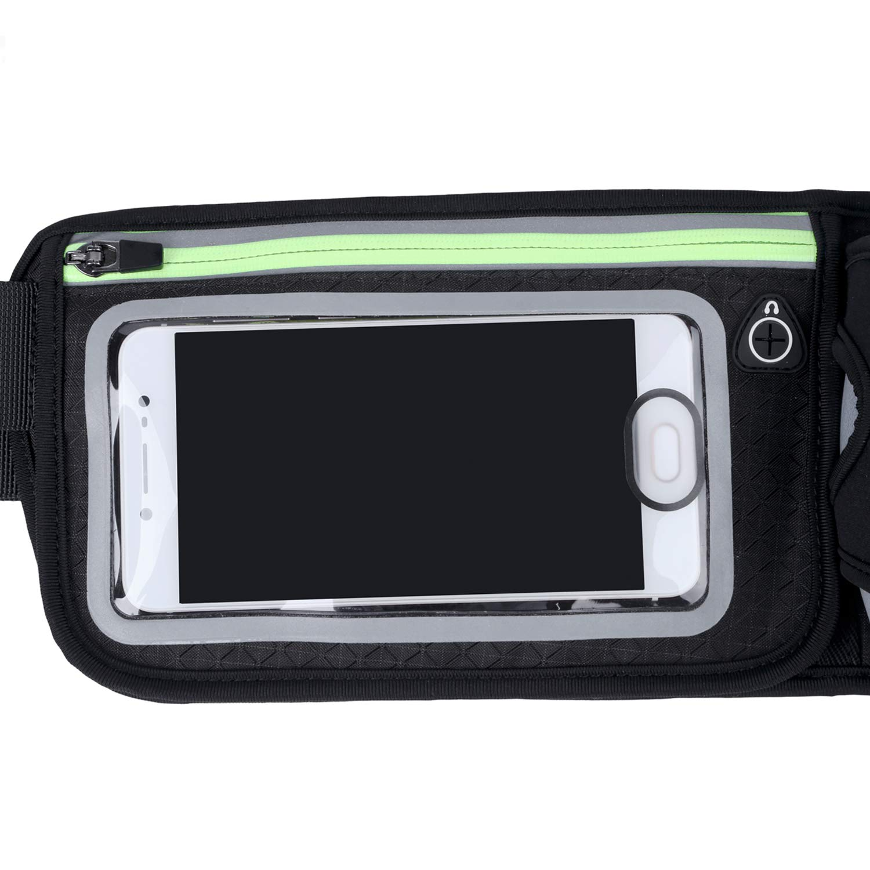 Running Water Bottle Holder Waterproof Multifunctional Sporting Belt w Touchscreen Zipper Pockets for iPhone Samsung Phones,for Men BEYONDY Waist Pack Water Bottle Belt