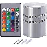 Sunix® RGB regolatore a distanza di luce, cilindro a soffitto, applique da parete 3W LED lampada di corridoio con Luce a dispersione