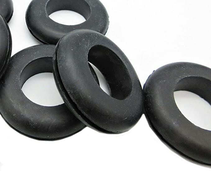 Black Rubber Grommet Round Rubber Grommet 20 7//8 ID x 1 5//8 OD Oil Resistant Buna-N Rubber Grommets Fits 1//16 Panel Rubber Grommets for 1 1//4 Panel Hole