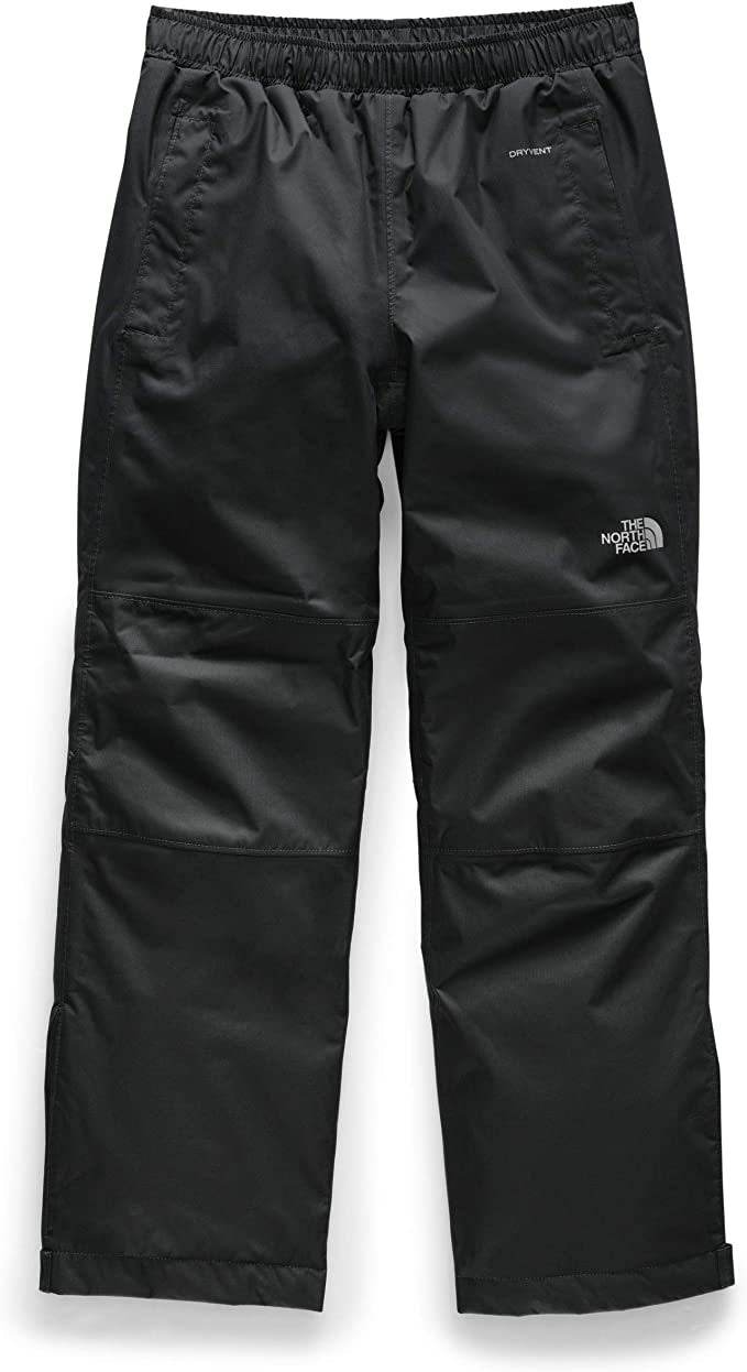 An image of a pant with front pockets, garterized waist, product logo stitched on the knee-part.