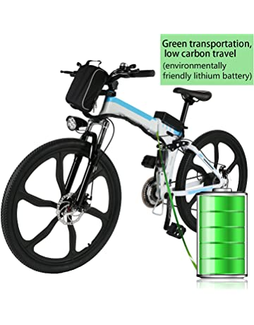 ed9ae336e41 Kemanner 26 inch Electric Mountain Bike 21 Speed 36V 8A Lithium Battery Electric  Bicycle for Adult