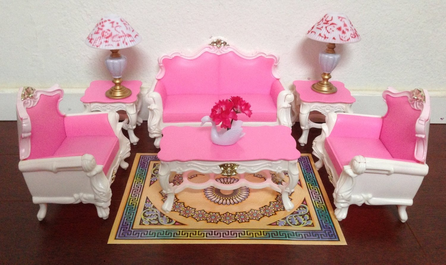 My Fancy Life Dollhouse Furniture - Deluxe Living Room Playset
