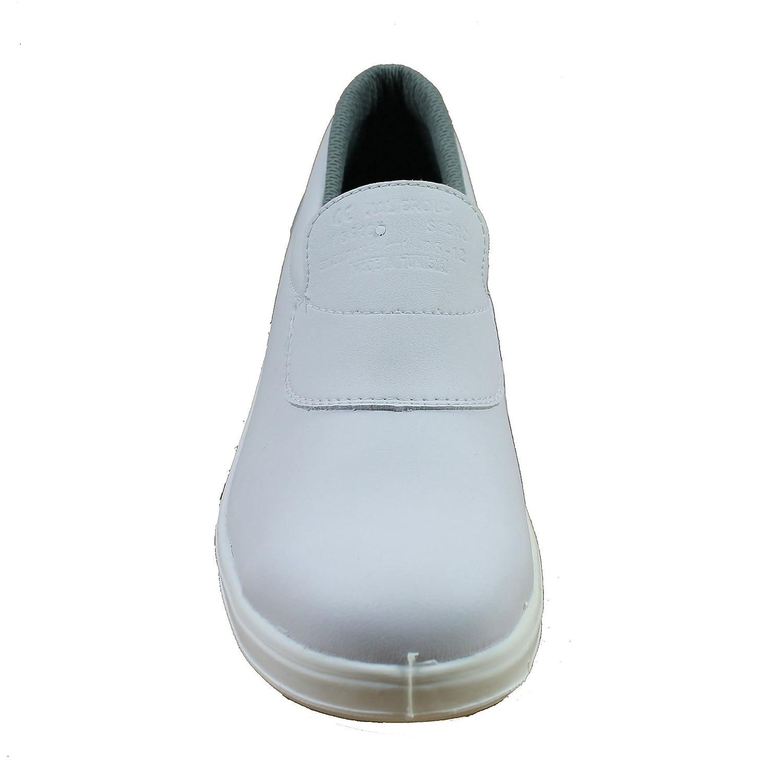 Almar s2 sRC chaussures de sécurité norme kochschuhe laborschuhe imperfections plat blanc - Blanc - Blanc, 35 EU