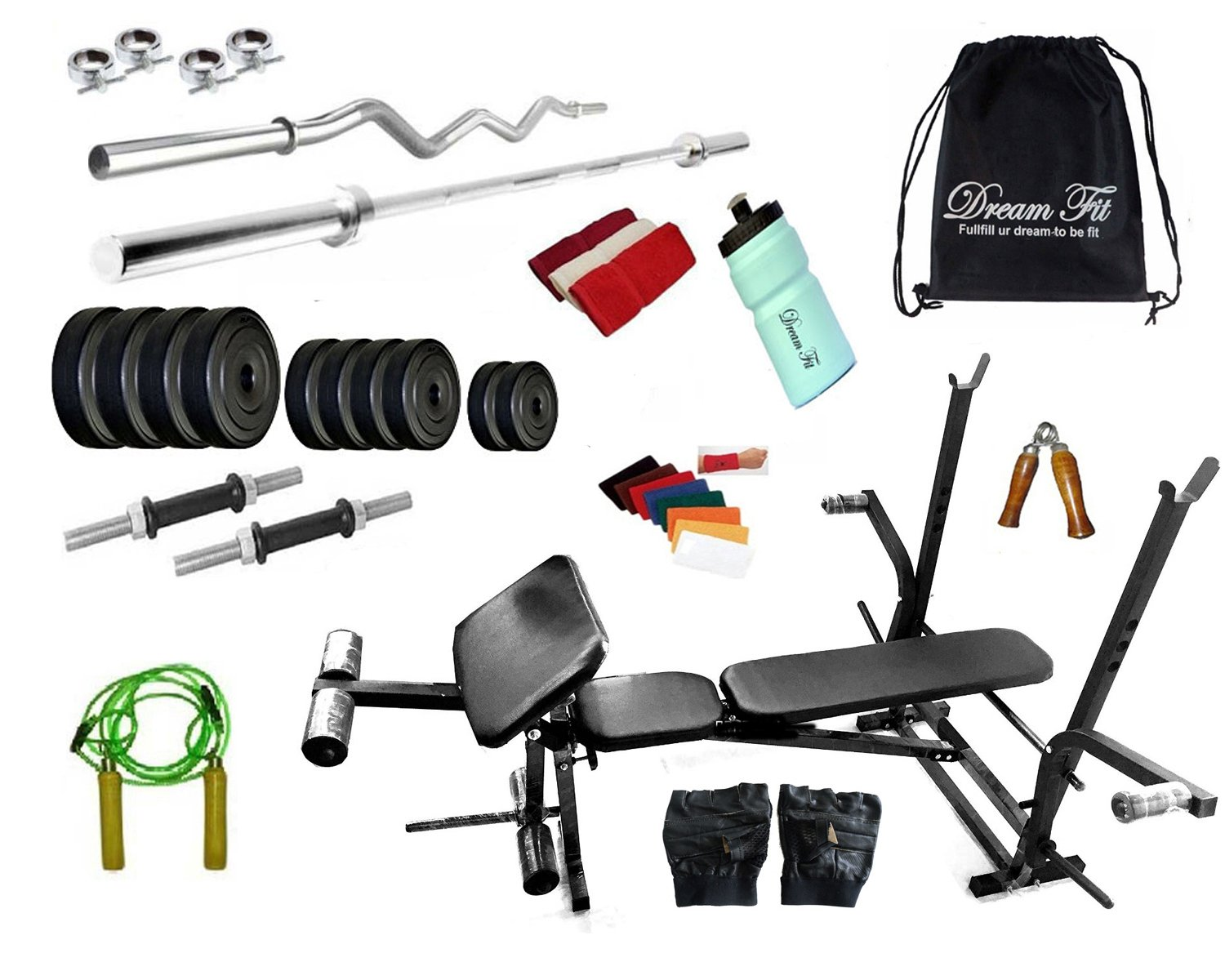 ddd303fdca Buy DREAMFIT 20 KG Home Gym with 7 in 1 Bench