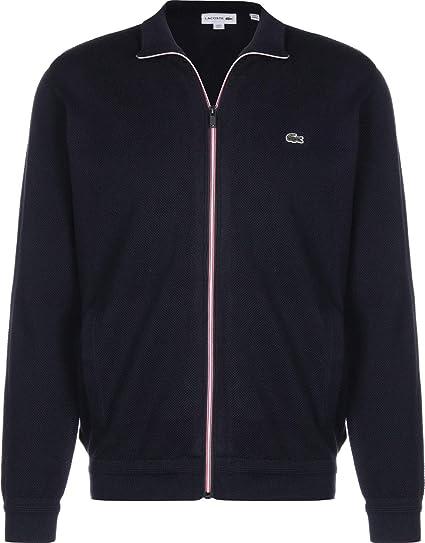 bonne texture vente la plus chaude jolie et colorée Lacoste veste de survêtement Navy Blue: Amazon.fr: Vêtements ...