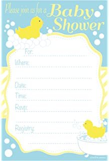 Amazon surprise party invitations fill in style 20 count duck baby shower invitations fill in style 20 count with envelopes filmwisefo