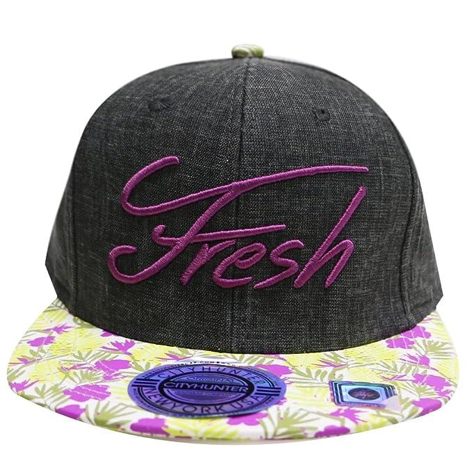 City Hunter Cf2111 Linen Summer Fresh Snapback Hats - Black at ... eb93f91a6be