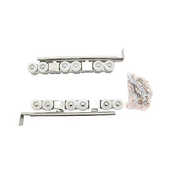 Guías con ruedas para puertas de armario, 17,5 cm, acero inoxidable, 2pcs: Amazon.es: Bricolaje y herramientas