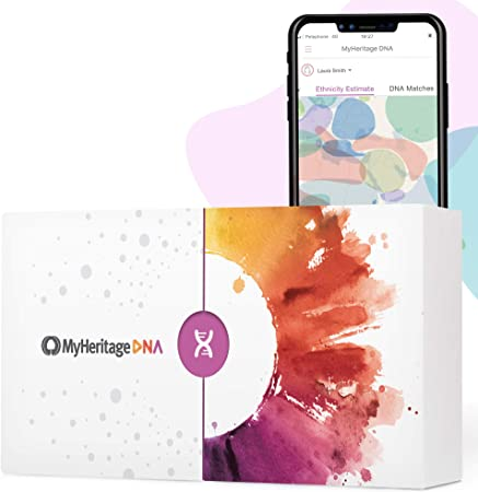 MyHeritage DNA Test Kit: Genetic Testing for Ancestry & Ethnicity Covering 2,114 Geographic Regions and DNA Matching to Relatives, White, 12 Count (Pack of 1)