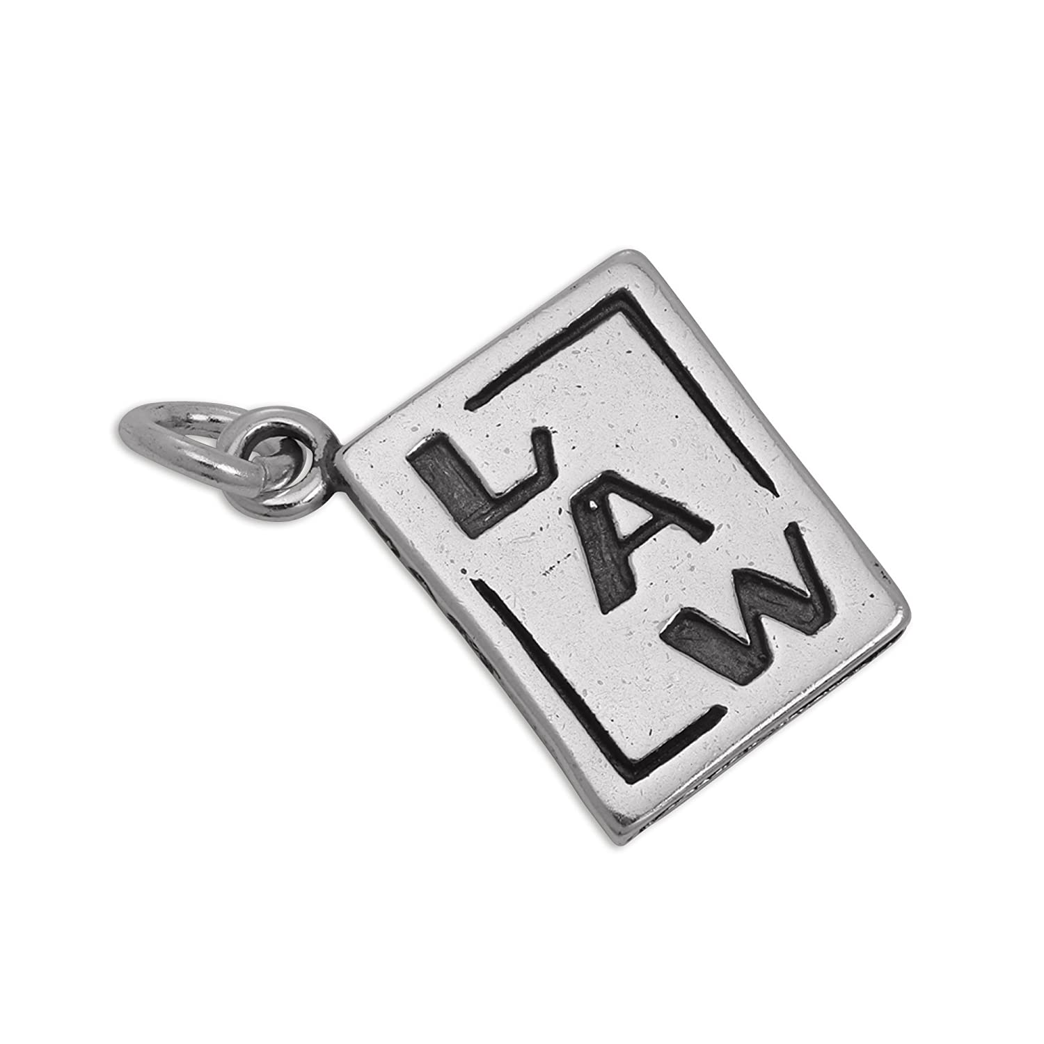 Sterling Silver Law Statute Book Charm jewellerybox CW-626