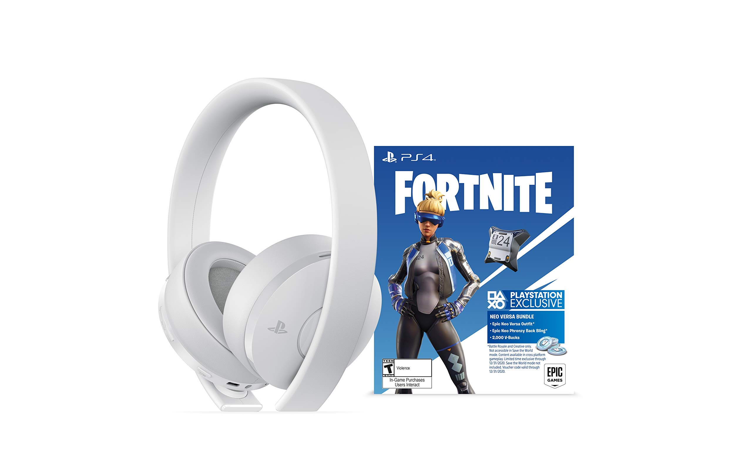 PlayStation Gold Wireless Headset Fortnite White - PlayStation 4 by Sony