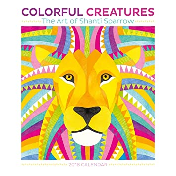 Amazon.com : Colorful Creatures The Art of Shanti Sparrow 2018 Small ...