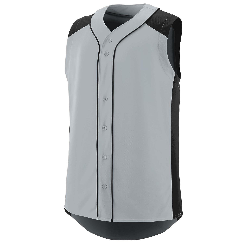 Augusta Sportswear Boys' Sleeveless Slugger Baseball Jersey L Silver/Black