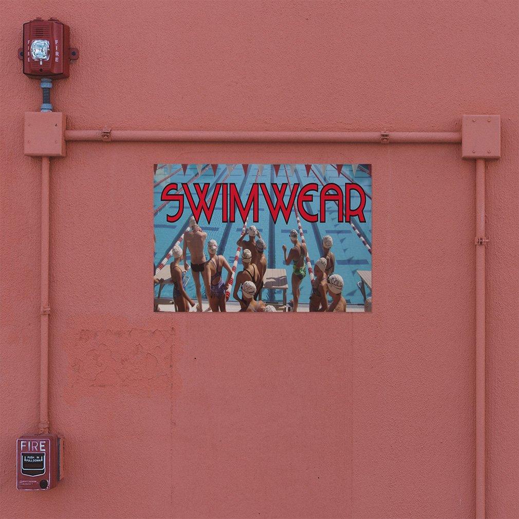 One Sticker 69inx46in Decal Sticker Multiple Sizes Swimwear Retail Swimwear Outdoor Store Sign Aqua-Blue
