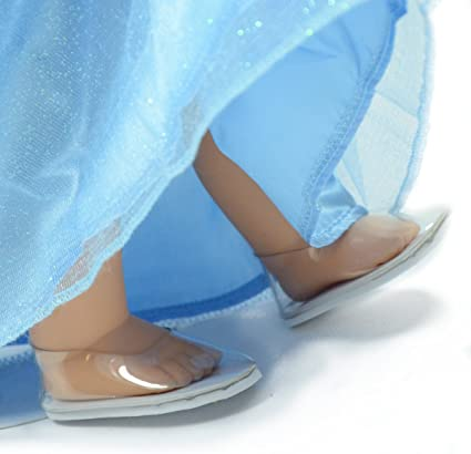 """Cinderella dress shoes inspired by Disney/'s movie for American girl 18/"""" Doll 4pc"""